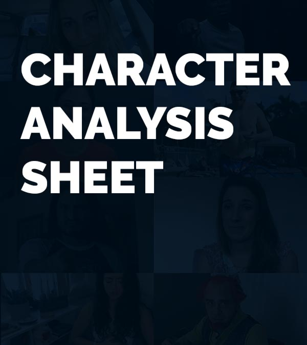 Character Analysis Sheet graphic card