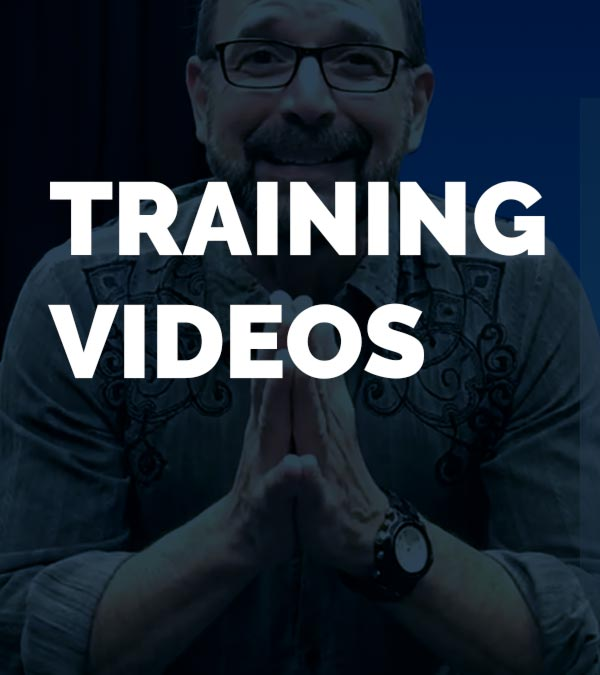 Training Videos title card with cooach hclay banks speaking in the backgruond