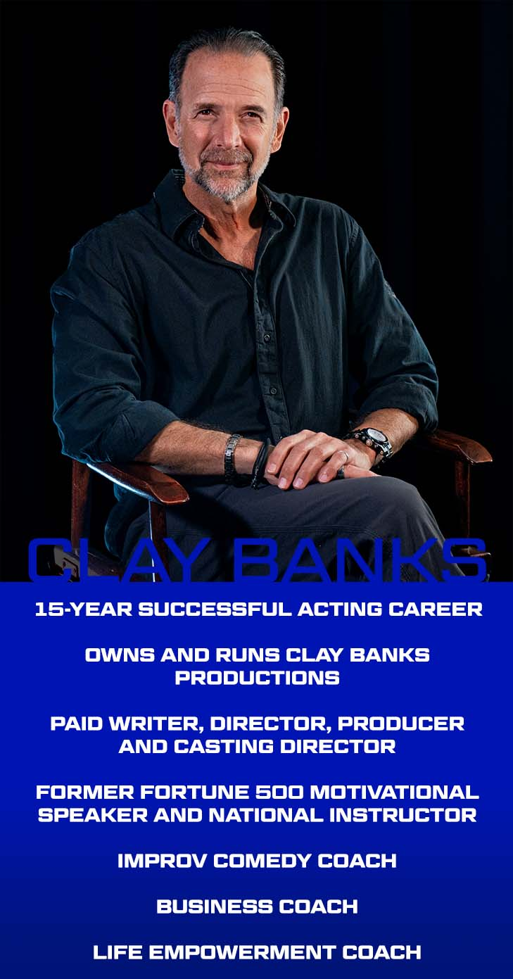 Clay Banks About card